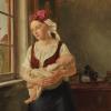 """""""Oczekująca"""" – kolejny obraz A.L. Mosta w kolekcji MNS"""