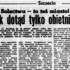 Sołtysi wielkiego Szczecina (13) – Jak dotąd tylko obietnice (Suplement II)