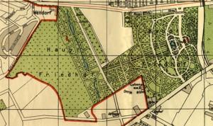 Środy z historią Szczecina - Cmentarz Centralny, mapa