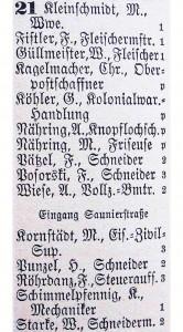 3) Fragment Książki adresowej Szczecina (Stettiner Adressbuch) z 1908
