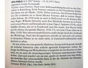 3) Nota biograficzna o Dicie Parlo