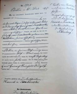 4) Akt urodzenia von Twardowskiego